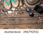 Summer Objects Among Sea Shell...