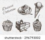 hand drawn dessert collection....