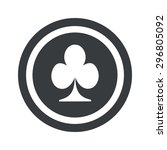 image of clubs card symbol in...