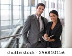 business executive and... | Shutterstock . vector #296810156