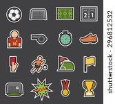 soccer icon | Shutterstock .eps vector #296812532