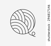 yarn ball line icon | Shutterstock .eps vector #296817146