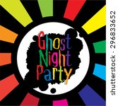 halloween poster colorful... | Shutterstock .eps vector #296833652