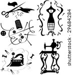 set of decorative elements of... | Shutterstock .eps vector #29684284