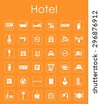 it is a set of hotel simple web ... | Shutterstock .eps vector #296876912