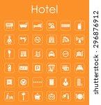 it is a set of hotel simple web ... | Shutterstock .eps vector #296876912