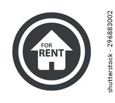 house with text for rent in...