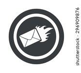 image of burning envelope in...