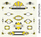 art deco style linear and... | Shutterstock .eps vector #296912426