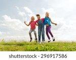 summer  childhood  leisure and...   Shutterstock . vector #296917586