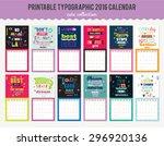 cute calendar template for 2016.... | Shutterstock .eps vector #296920136