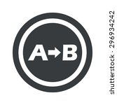 a to b icon in circle