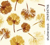autumn leaves background. crazy ... | Shutterstock .eps vector #296934746