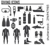 diving icon vector illustration. | Shutterstock .eps vector #296947985