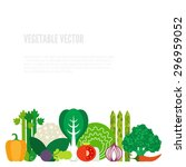 fresh vegetables vector concept.... | Shutterstock .eps vector #296959052