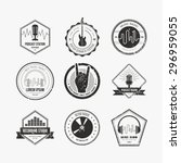 collection of music logos made... | Shutterstock .eps vector #296959055