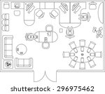 architectural set of furniture. ...   Shutterstock .eps vector #296975462