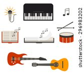 music band concert isolated... | Shutterstock .eps vector #296983202