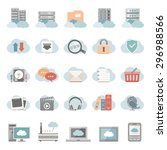 flat icons   cloud computing | Shutterstock .eps vector #296988566