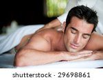 a good looking man getting a... | Shutterstock . vector #29698861