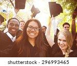 diversity students graduation... | Shutterstock . vector #296993465