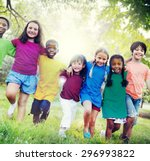 children friendship... | Shutterstock . vector #296993822