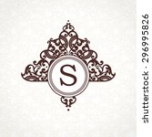 vector logo template in... | Shutterstock .eps vector #296995826