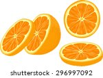 vector illustration of orange... | Shutterstock .eps vector #296997092