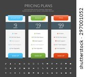 vector pricing table in flat... | Shutterstock .eps vector #297001052