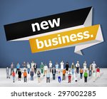 new business start up strategy... | Shutterstock . vector #297002285