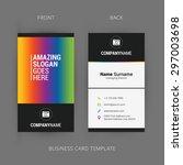 vector modern creative and... | Shutterstock .eps vector #297003698