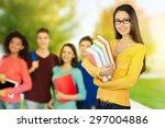 student  university  laptop. | Shutterstock . vector #297004886