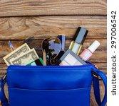 cosmetics  money and women's...   Shutterstock . vector #297006542