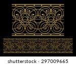 golden  ornamental segment for... | Shutterstock . vector #297009665