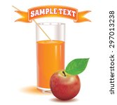 glass for juice from the ripe... | Shutterstock .eps vector #297013238