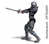 female fantasy knight with... | Shutterstock . vector #29701894