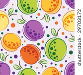 vector seamless pattern of plum ... | Shutterstock .eps vector #29703172