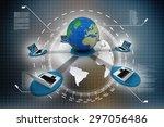 computer network | Shutterstock . vector #297056486