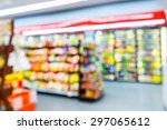 blurred convenience store ... | Shutterstock . vector #297065612