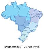 polygonal map of brazil | Shutterstock .eps vector #297067946