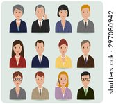 business men and women | Shutterstock . vector #297080942