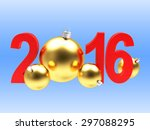 2016 new year concept. red 2016 ... | Shutterstock . vector #297088295