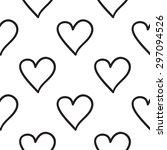 black outline hand drawn vector ... | Shutterstock .eps vector #297094526