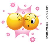 smiling ball kissing another... | Shutterstock .eps vector #29711584