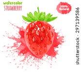 strawberry on white background. ... | Shutterstock .eps vector #297139586