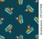 transportation ferry flat icon... | Shutterstock .eps vector #297147908