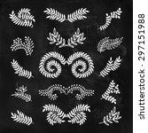 set of vector hand drawn... | Shutterstock .eps vector #297151988
