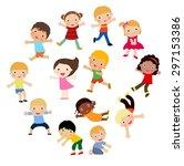group of kids   Shutterstock .eps vector #297153386