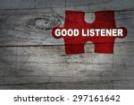 Wood Puzzle  Good Listener