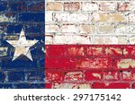 Texas State Flag Of America On...